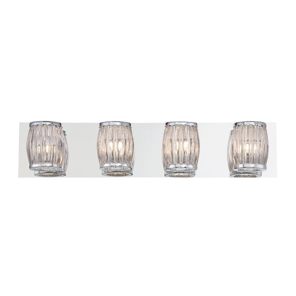 Barile Collection 4-Light Chrome Bath Bar Light