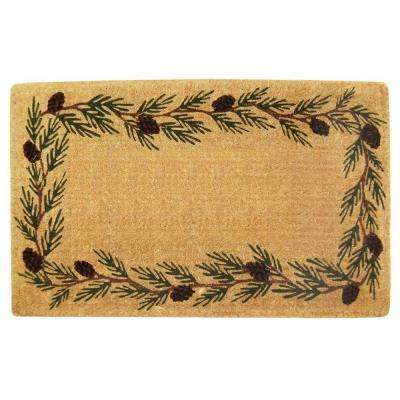 Evergreen Plain 22 in. x 36 in. Coir Door Mat