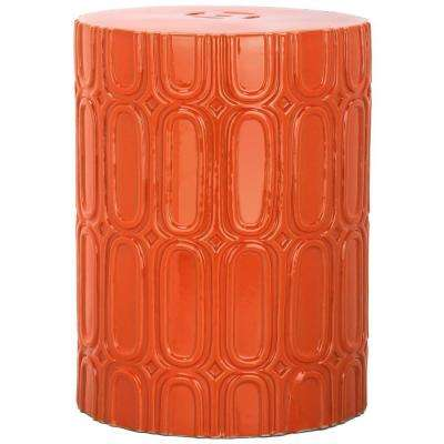 Melody Orange Patio Stool