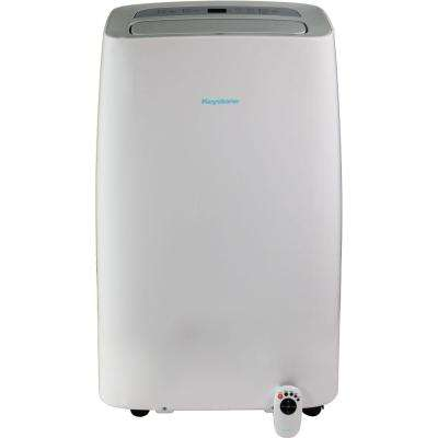 14,000 BTU 7,700 BTU (DOE) Portable Air Conditioner with Dehumidifier and Follow Me Remote Control in White