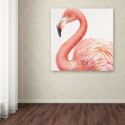 """14 in. x 14 in. """"Gracefully Pink III"""" by Lisa Audit Printed Canvas Wall Art"""