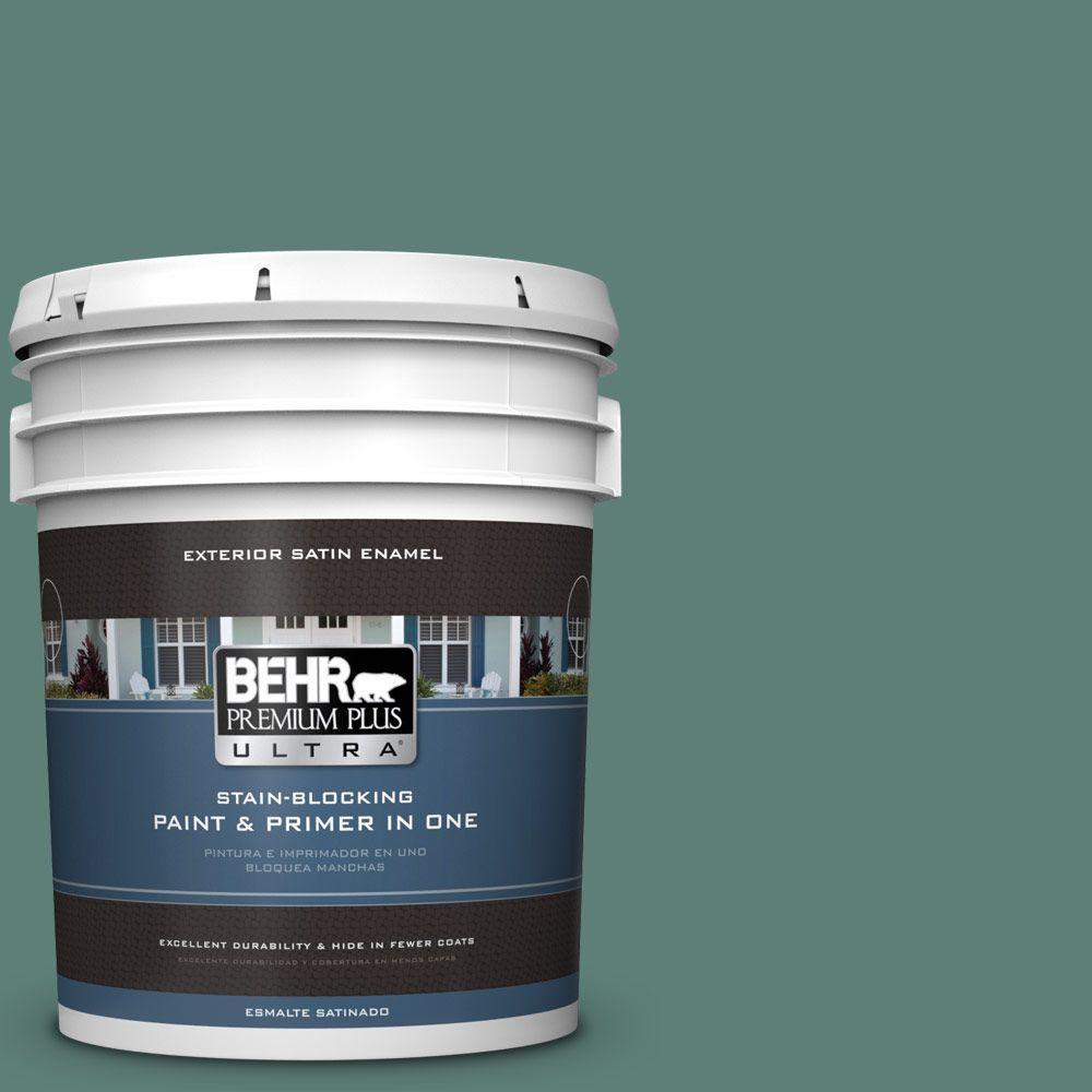 BEHR Premium Plus Ultra 5-gal. #M440-6 Trellis Vine Satin Enamel Exterior Paint