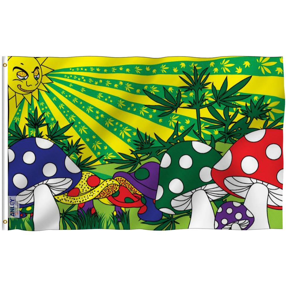 Anley Fly Breeze 3 Ft X 5 Ft Polyester Mushroom Flag 2