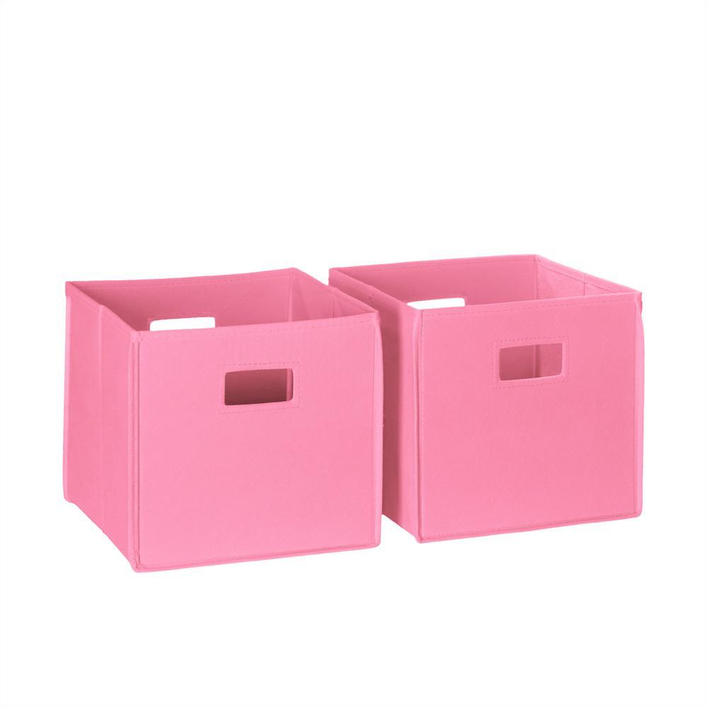 Superieur RiverRidge Home 10.5 In. X 10.5 In. Folding Storage Bin Set In Pink (