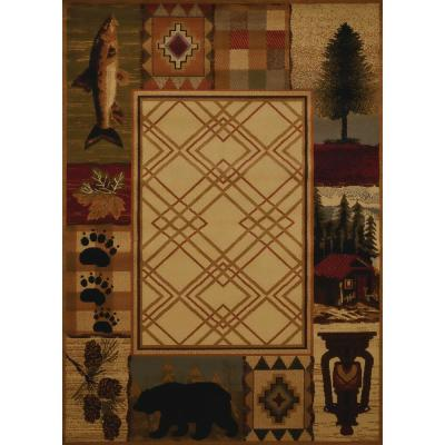 Affinity Mountain Lake Natural 5 ft. 3 in. x 7 ft. 2 in. Area Rug