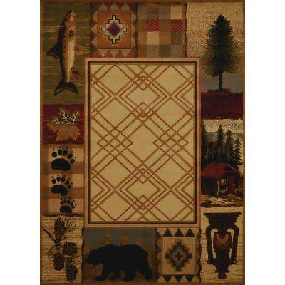 Affinity Mountain Lake Natural 7 ft. 10 in. x 10 ft. 6 in. Area Rug