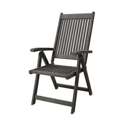 Renaissance Reclining Wood Outdoor Dining Chair