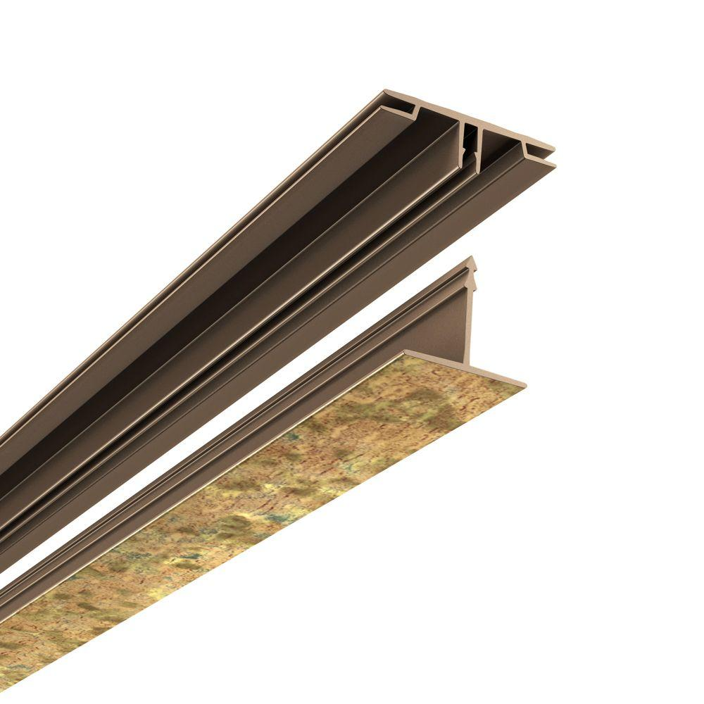 Ceilingmax 100 sq. ft. Ceiling Grid Kit Cracked Copper