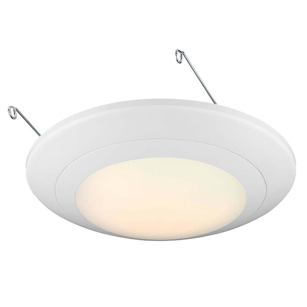 EnviroLite 6 in. White Integrated LED J-Box or Recessed Can Mounted LED Disk Light Trim, 3000K