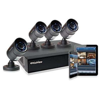 4-Channel 1TB HDD Indoor/Outdoor Day Night Surveillance System and (4) HD 720P Camera 1 Bonus Channel Remote View