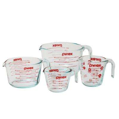 Glass Measuring Cup Set (4-Piece)