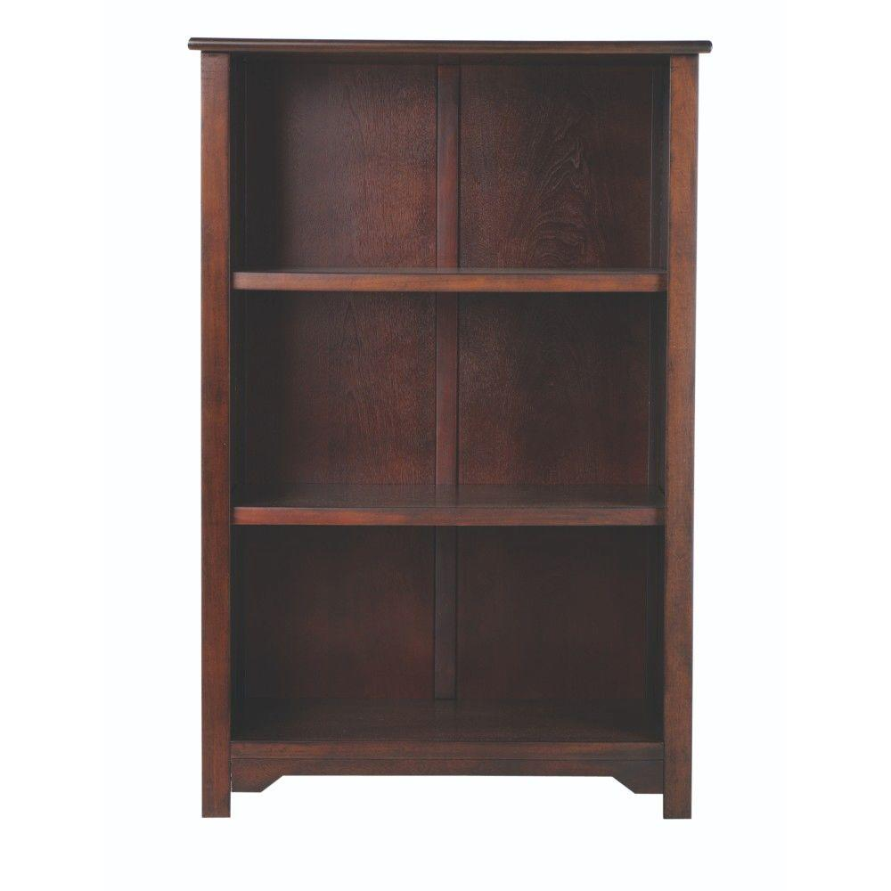 Home Decorators Collection Oxford Chestnut Open Bookcase 2877400970 The Home Depot
