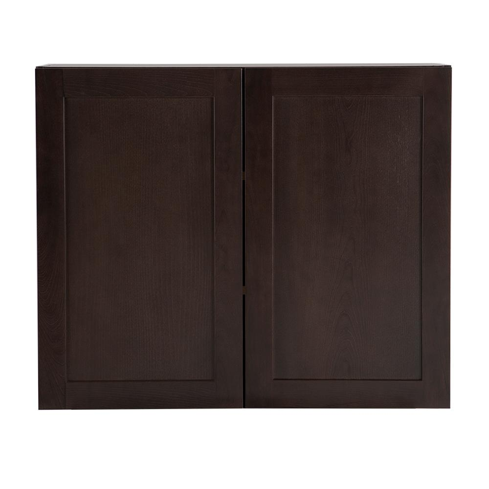 Cambridge Pantry Cabinets In Dusk: Hampton Bay Cambridge Assembled 36x30x12.62 In. Wall