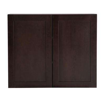 Cambridge Assembled 36x30x12.62 in. Wall Cabinet in Dusk