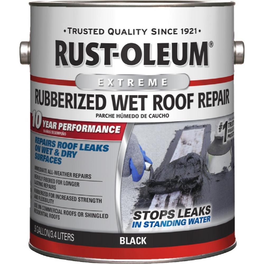 Rust-Oleum 0.9 Gal. Wet Roof Leak Stop Cement Patch