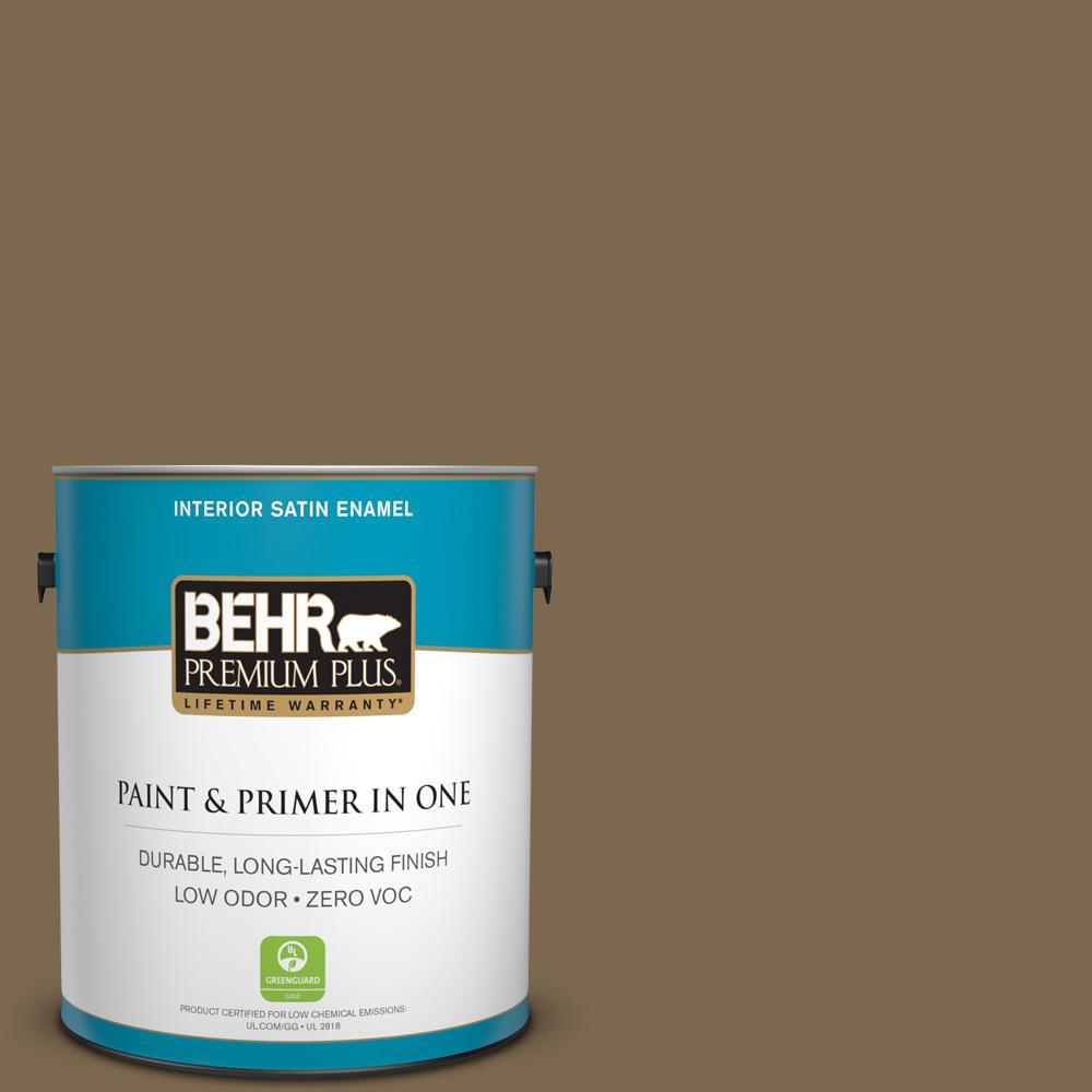 BEHR Premium Plus 1-gal. #N300-7 Mayan Ruins Satin Enamel Interior Paint