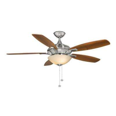 Springview 52 in. Indoor Brushed Nickel Ceiling Fan with Light Kit
