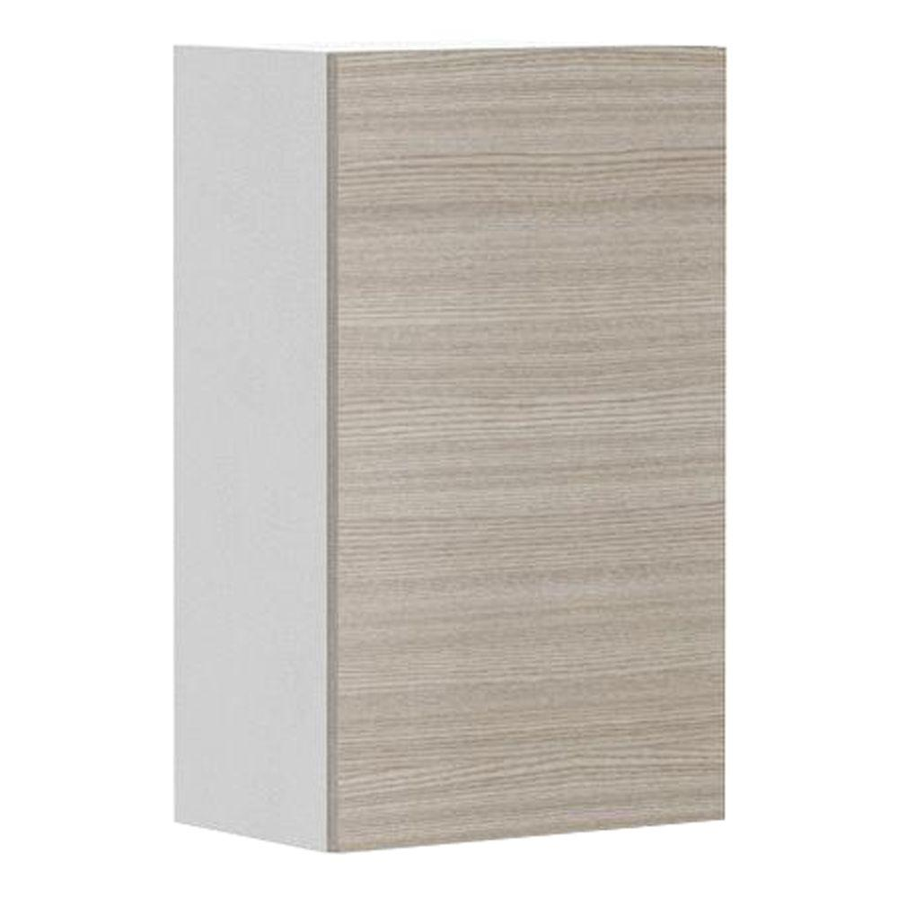 Eurostyle Ready to Assemble 18x30x12.5 in. Geneva Wall Cabinet in White Melamine and  sc 1 st  The Home Depot & Eurostyle Ready to Assemble 18x30x12.5 in. Geneva Wall Cabinet in ...