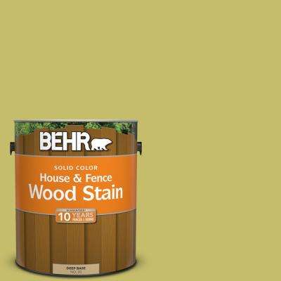 1 gal. #P350-5 Go Go Lime Solid Color House and Fence Exterior Wood Stain