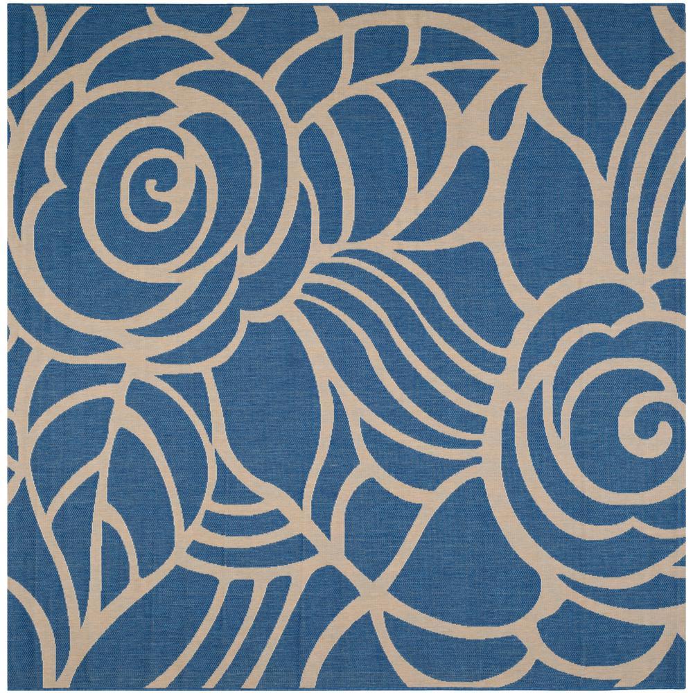Courtyard Blue/Beige 7 ft. 10 in. x 7 ft. 10 in.