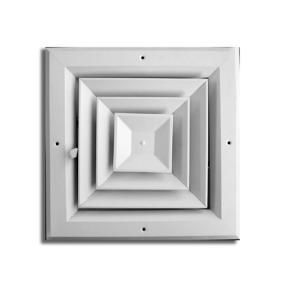 everbilt 8 in. x 8 in. 4 way square ceiling diffuser-ha504 08x08