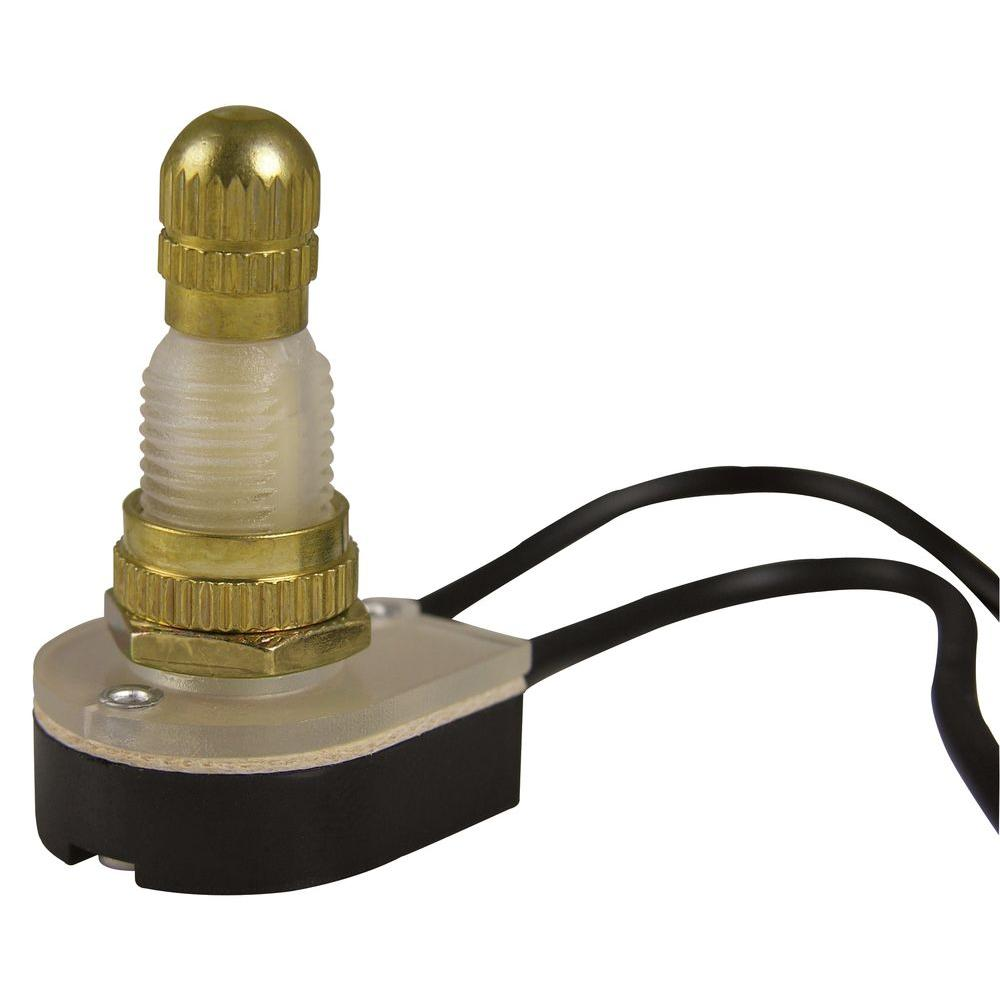 Gardner Bender 6 Amp Single-Pole Rotary Switch, Brass-GSW-61 - The Home  DepotThe Home Depot