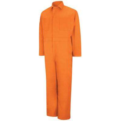Men's Size 38 Orange Twill Action Back Coverall