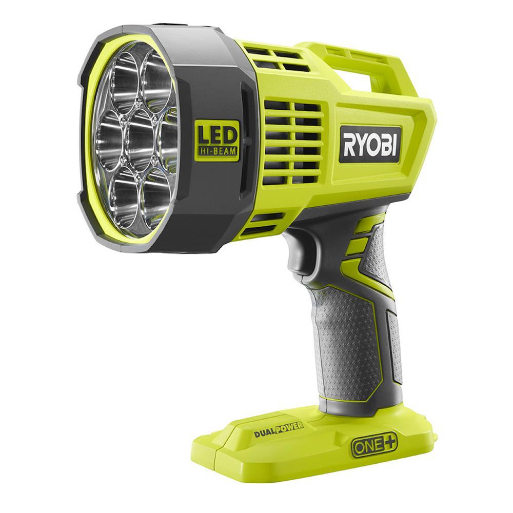 Ryobi 18 Volt One Cordless Dual Power Led Spotlight Tool