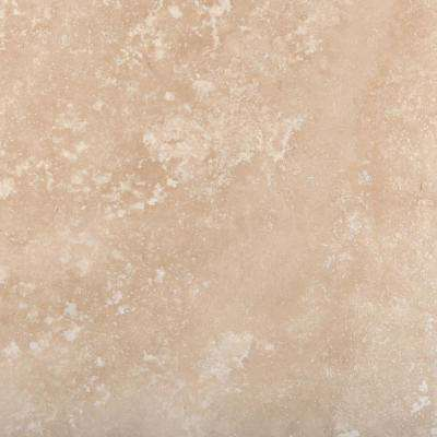 Trav Crosscut Ivory Classic Filled and Honed 18.7 in. x 18.7 in. Travertine Floor and Wall Tile
