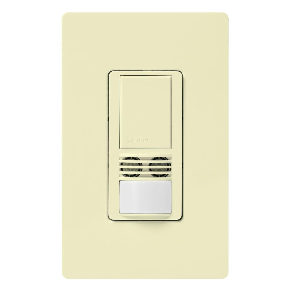 almond lutron motion sensors ms a102 al 64_1000 lutron maestro dual voltage motion sensor switch, 6 amp, single Leviton Dimmer Switch Wiring Diagram at n-0.co