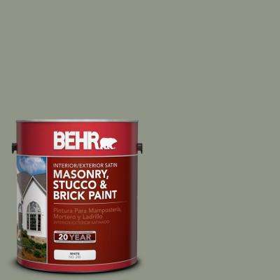 1-gal. #MS-59 Casting Shadow Satin Interior/Exterior Masonry, Stucco and Brick Paint