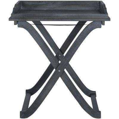 Covina Ash Grey Wood Outdoor Side Table