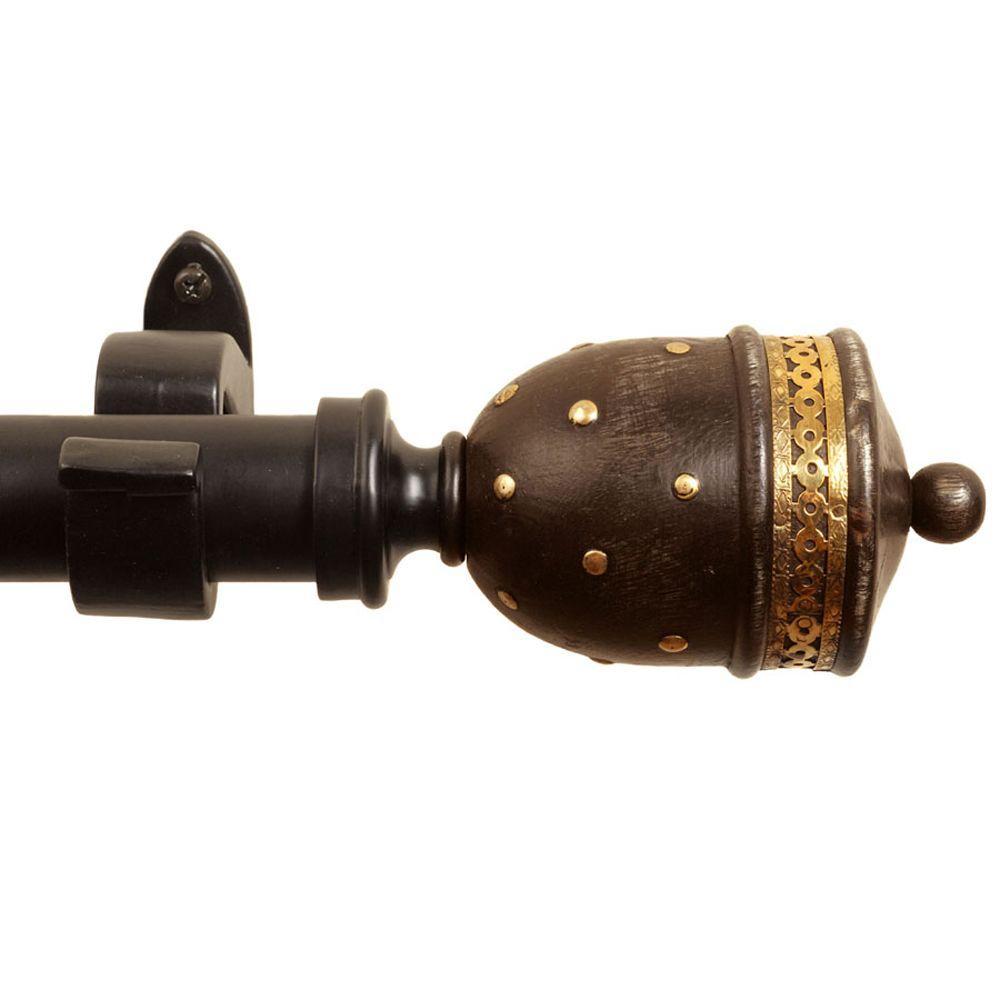 Rulu 52 in. - 144 in. Telescoping Mughal Rod Set-DISCONTINUED