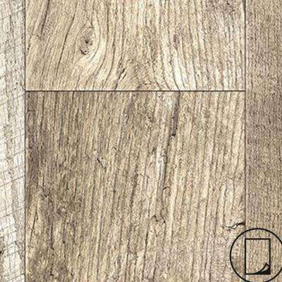 4 ft. x 8 ft. Laminate Sheet in Rediscovered Oak Planked with Virtual Design SoftGrain Finish