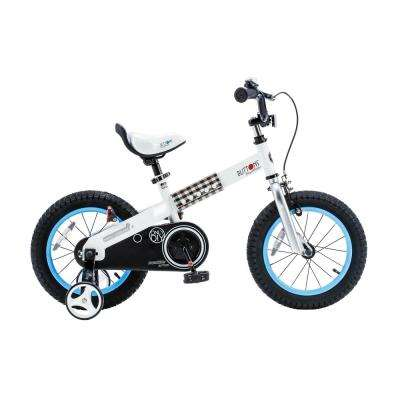 Buttons Kid's Bike, Boy's Bikes and Girl's Bikes with Training Wheels, 12 in. Wheels in Blue