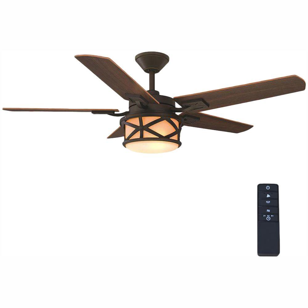 Copley 52 in. Indoor/Outdoor Oil-Rubbed Bronze Ceiling Fan