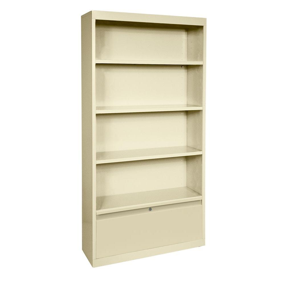 Sandusky Putty Storage Steel Bookcase