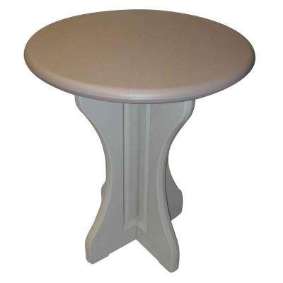 Taupe 30 in. Resin Patio Bistro Table