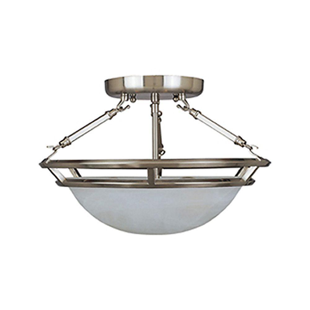 Stratus 3-Light Pewter Semi-Flush Mount Light