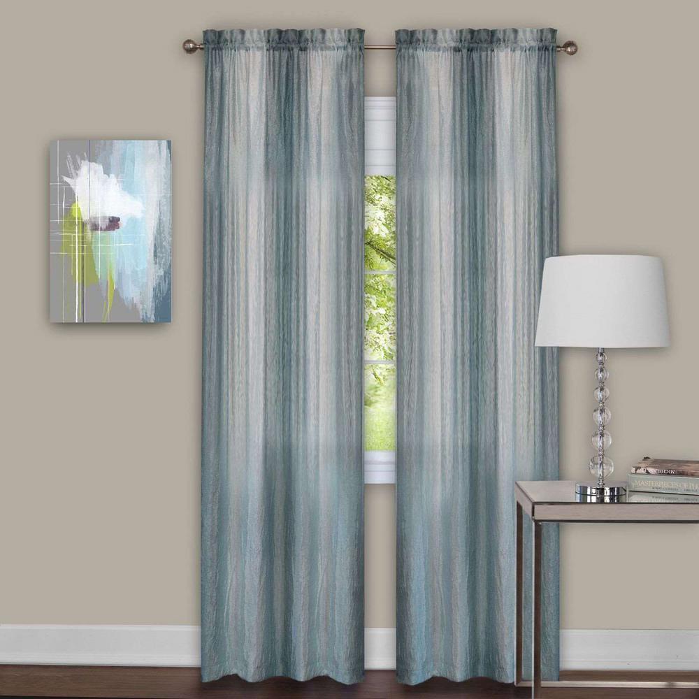 Achim Sheer Sombre Mist Window Curtain Panel Pair 40 In