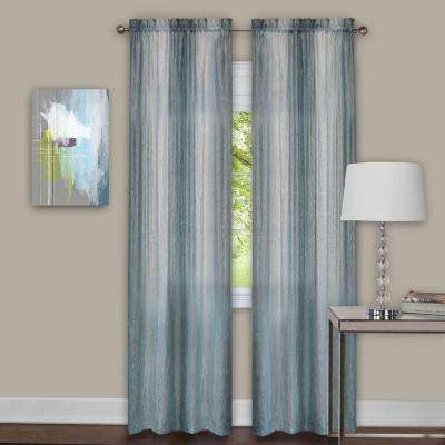 Sheer Sombre Window Curtain Panel Pair