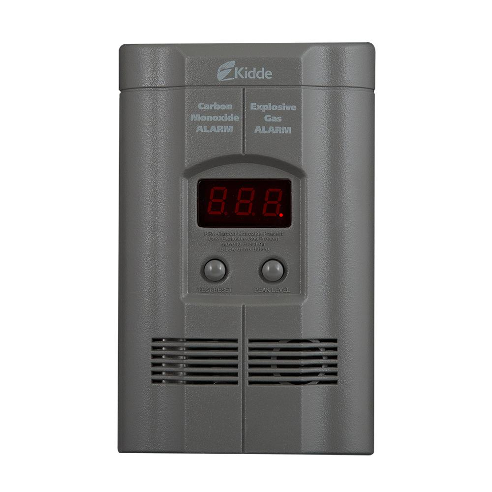 Plug-In Carbon Monoxide and Explosive Gas Detector with 9V Battery Backup