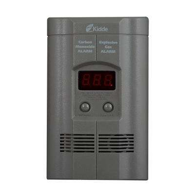 Plug-In Combination Explosive Gas and Carbon Monoxide Detector with Battery Backup
