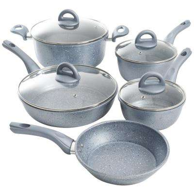 Havendale 9-Piece Gray Cookware Set