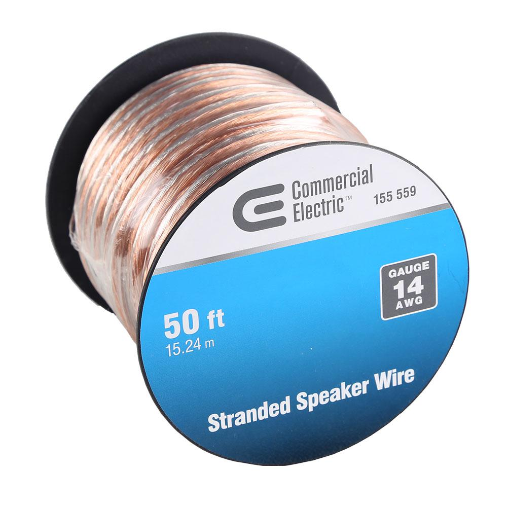 Commercial Electric 50 ft. 14-Gauge Stranded Speaker Wire-Y283530 ...