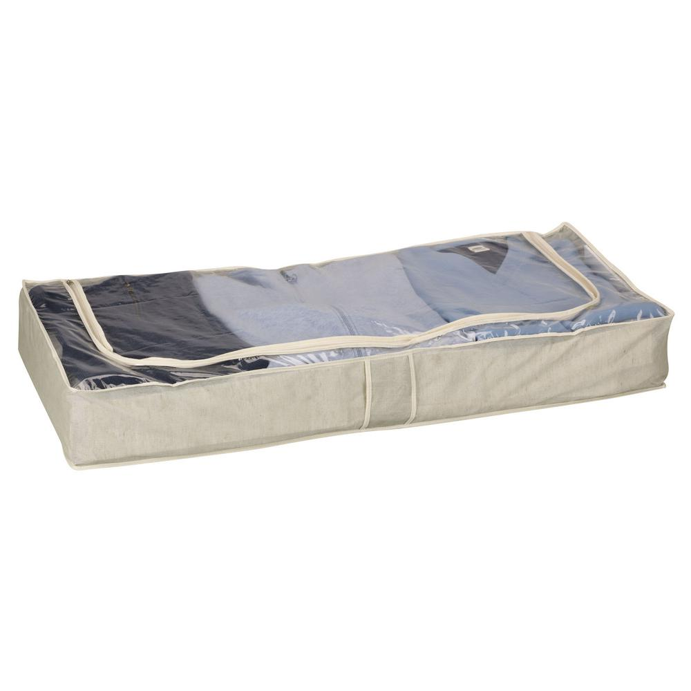 Household Essentials Under Bed Storage Bag With See Through Top Tea Fog
