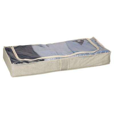 Under Bed Storage Bag with See-Through Top, Tea Fog
