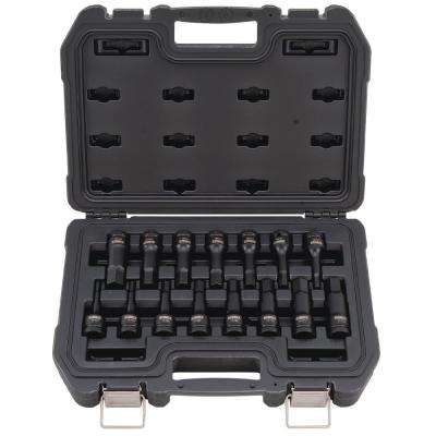 1/2 in. Drive Combination Impact Hex Socket Set (15-Piece)