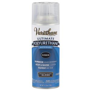 Varathane 11 25 Oz Clear Gloss Water Based Interior Polyurethane Spray Paint 6 Pack 200081 The Home Depot
