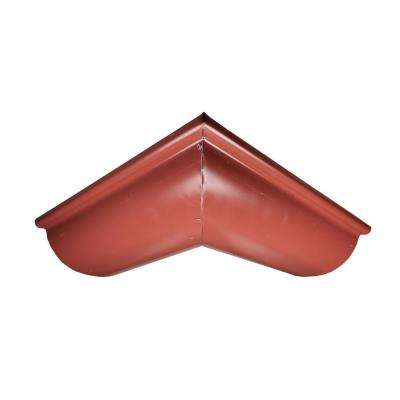 6 in. Half Round Scotch Red Aluminum Outside Miter